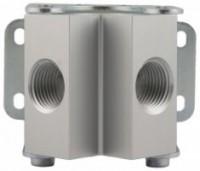 2 huls manifold for aluminiums trykluftrørsystem