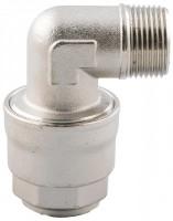 Vinkel udvendigt gevind for aluminiums trykluftrørsystem