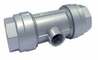 Reduktions-tee indvendigt gevind for aluminiums trykluftrørsystem
