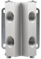 4 huls manifold for aluminiums trykluftrørsystem