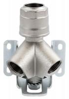 Vægudtag dobbelt for aluminiums trykluftrørsystem