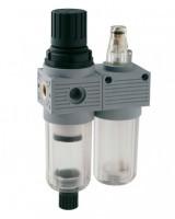 Filterregulator med smøreapparat til luftbehandling