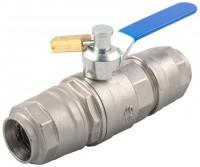 Kuglehane med lås for aluminiums trykluftrørsystem