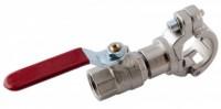 Anboring med kuglehane for aluminiums trykluftrørsystem